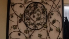 siertralie met druiven en bladeren