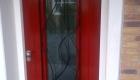 siertralie over voordeurglas